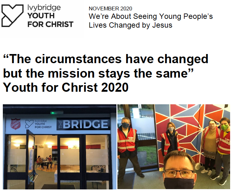 Ivybridge Youth for Christ Newsletter